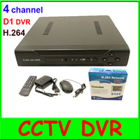 Wholesale 4 CH Full D1 H Network Stand Alone DVR Real time with mobile Phone Surveillance