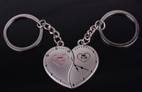 Cheap NEW clock LOVE style chain key ring Wedding Keychain Wedding Favors key Couple keychains