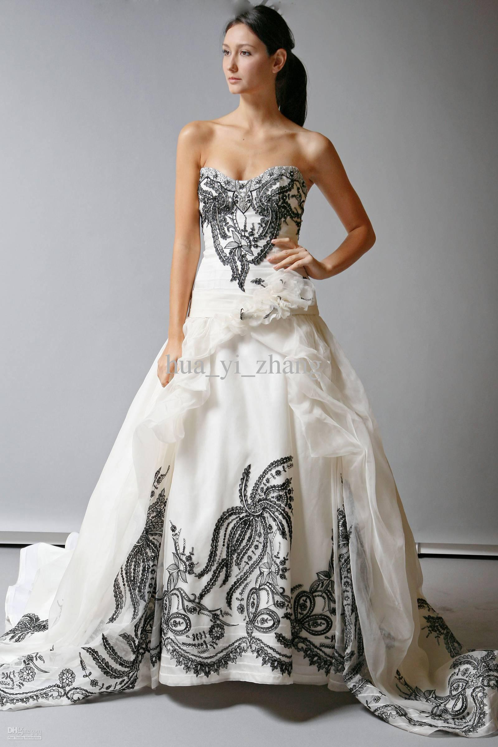 Wedding Dresses Black And White Store - Flower Girl Dresses
