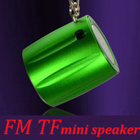 mini speaker rechargeable - Metal Portable Rechargeable Player Smallest mini Speaker Subwoofer FM TF Card cm cm Colors
