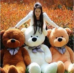 Wholesale hot new Large Meters Teddy Bear Lovers Big bear Arms Stuffed Animals Toys Plush Doll retails Valentine s gift new Year s gift
