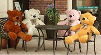 al por mayor muñecas del oso de peluche del cumpleaños-2015 llenaron grandes del oso 1m 80cm 1,2 m 1,4 m 1,6 Metros para elegir regalo Teddy Big Bear Lovers oso armas Animales de peluche juguetes muñeca de peluche de cumpleaños