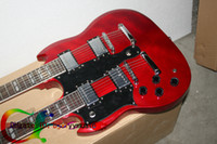 Wholesale Custom Double neck left handed guitar Double neck Electric Guitar in red strings
