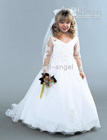 Wholesale Custom fashion white fluffy style cute princess dresses top beautiful Junior Bridesmaid Dresses