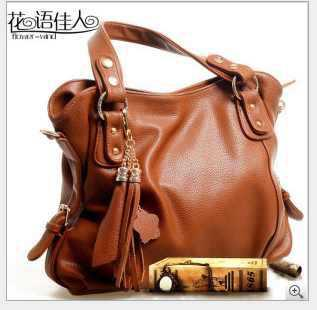 Big Leather Shoulder Bag 26