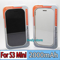 DHL 100pcs 2000mAh External backup case w cover for S3 Mini ...
