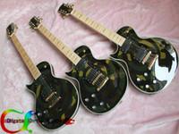 Precio de Guitarra de la mano izquierda verde-la guitarra con la mano izquierda ZAK verde camuflaje de la guitarra eléctrica de la guitarra dejó mano libre del envío