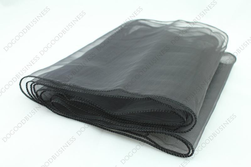 Black Table Runner Black 12x108 Organza Table