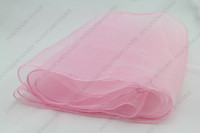 Wholesale HOT color new x Pieces light pink quot x108 quot Organza Table Runners Wedding Party Supply Decoration