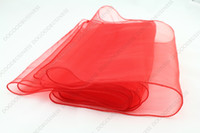 Wholesale new red quot x108 quot Organza Table Runners Wedding Party Supply Decorations Many Colors x25