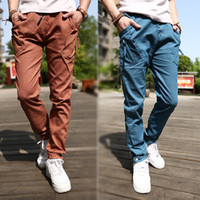 Wholesale men s pocket sports casual pants casual and fashionable capri pants for men