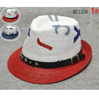 Unisex Summer Visor New children's Straw hat Baby boy jazz cap Fashion baby summer hat Boy sun hat Summer visor hat