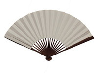 Wholesale Plain Color Paper Fans White Chinese Folding Fan Blank Hand Fan Free