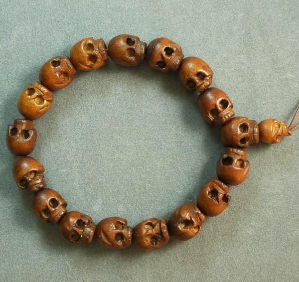 Skull Bracelet Malaysia Wood Skull Beads Bracelet