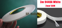 Wholesale 1x mm M A White Double Sided Adhesive Tape Sticky for Touch Panel Dispaly Screen Case