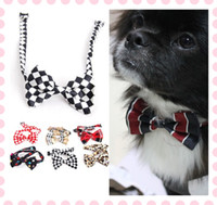 Wholesale Fashion Handsome Dog Cat Pet Bow Tie Collar Accessory Polyester Cotton Necktie Clothes