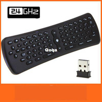 Wholesale T3 GHz Wireless Qwerty Keyboard Mini Fly Air Mouse Laptop Tablet Remote for PC Android TV Box