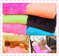 Wholesale Quick Dry Deluxe Coral Pet Puppy Dog Coral Fleece Thermal Blanket