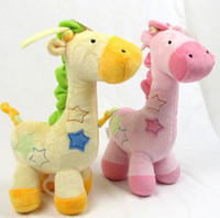 Cloth   Interesting Stroller Toys Musical Giraffe Bedding Toys Baby Toys Famous Brand Baby Development Toys