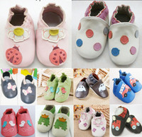 Wholesale Really Leather baby shoes toddler shoes First Shoes Handmade Size Months