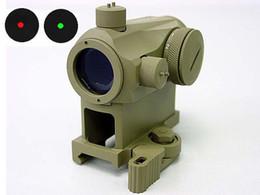 Wholesale 1x24 Micro T Red Green Dot Sight Scope w QD High Mount Tan