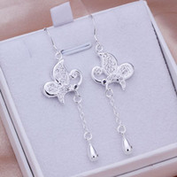 Wholesale Retro silver fashion earring Austrian crystal sterling silver earring jewelry factory price E286