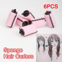 sponge hair curler ball - Best Magic DIY Hair Curlers Hair Care Roller Balls Styling Beauty Soft Sponge set