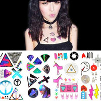 Wholesale 50Sets Instant Tattoo Sticker Colourful Body Art Party Temporary Tattoo Stickers