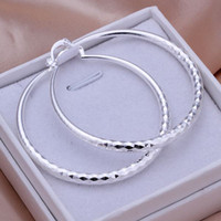 wholesale factory - Retro circle silver fashion earring sterling silver Lady New earring jewelry factory price E291
