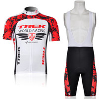 Wholesale Summer sportswear men bike clothing TREK Team cycling jerseys short sleeve and bib shorts sets