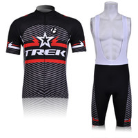 Wholesale Outdoor sportswear bike clothing TREK Team men cycling jerseys short sleeve and bib shorts sets