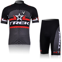 Wholesale cycling clothing Trek Team men cycling jerseys short sleeve and shorts summer bicycle clothing