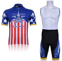 Wholesale Outdoor bike clothing TREK Team Red and Blue men cycling jerseys short sleeve bib shorts sets