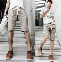 Wholesale Hottest Summer Casual Men s Pants Linen Army Green Khaki Non ironing Processing Pants GYH