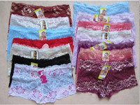 Wholesale 100pcs Bud silk lace transparent sexy Ladies Panties lady bud silk Inner pants