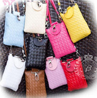 Wholesale Lady Iphone Mobile Small Shoulder Bags Women Phone Package Cosmetic Purse Candy Colors