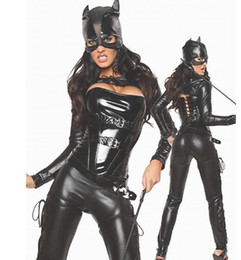 Wholesale new black five piece set sexy hotties Catwoman stage clothing perform clothing