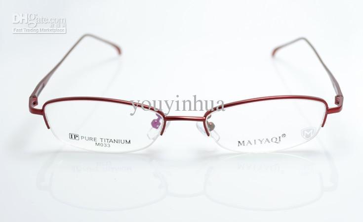Fashion High End Titanium Glasses Frame Half-Rim Ready ...