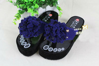 Wholesale 2013 new bright silk flower lady s flip flops fashion cool waterproof Taiwan women beach slippers