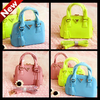 Wholesale Hottt sell lovely children s purses girls children totes handbags shoulder bags candy colors freeshipping