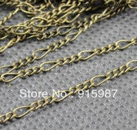 Wholesale Fashion Jewelry Findings Accessories charm pendant Copper Antique Bronze Chain width Chain letters mm Meter