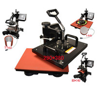 Wholesale Cheap in New Design Combo Heat Press Transfer Machine For T Shirt Mug Cup Plate Cap Cell Phone Iphone Case Printer By FEDEX DHL