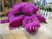 8-11 Years big barney doll - 1pcs big size New Barney Child s Best Friend Cushion Pillow Plush Doll Purple cartoon Pillows
