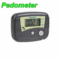 Wholesale High quality LCD Walking Calorie Pedometer Step Counter Distance BLA