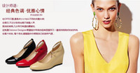 Wholesale Osionce Womens Wedges Dress Shoes Ladies Fashion High Heels Shoe Black Red Beige Hotsale Dropship