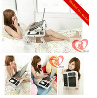 Wholesale laptop cooler pad bed Portable Laptop Desk Notebook Stand Bed TV Tray Cooler computer desk