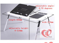 Double Fans Plastic  Brand New Cool ABS Laptop Computer Desk Foldable Table Notebook Radiator Portable Bedding Table
