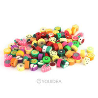 Wholesale Mixed Fimo Polymer Clay Fruits Charms Spacer Beads Fit Bracelets Have in Stock