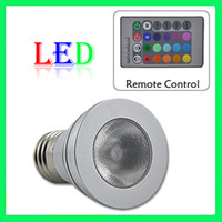 Wholesale 100 V W E27 RGB led lamp Color Change LED RGB Light Bulb with with Wireless Remote
