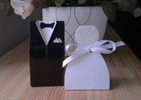 Wholesale 2013 pair groom amp bride new marriage charm Shower Favor Candy Boxes Wedding Party Gift hold bag